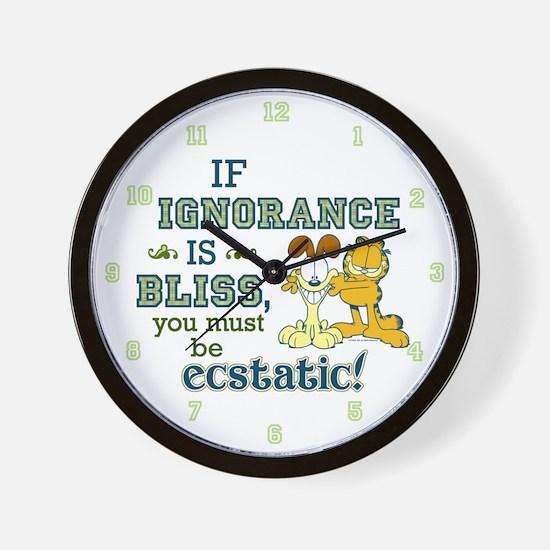 Ignorance Wall Clock