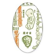 Japanese Fetus Oval Decal