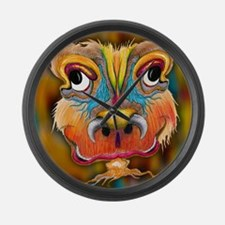 Grimmace Happy Monster Face Large Wall Clock