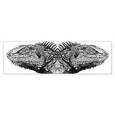 Iguana Melons Bumper Sticker