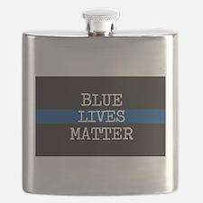 Blue Lives Matter Flask