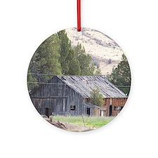 Rustic Barn Round Ornament