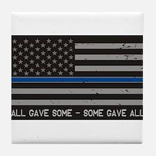 Blue Lives Matter Tile Coaster