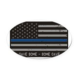 Blue lives matter Oval Car Magnets