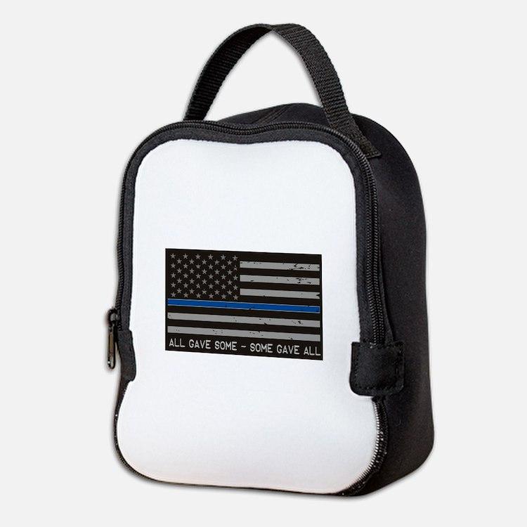 Blue Lives Matter Neoprene Lunch Bag