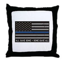 Blue Lives Matter Throw Pillow
