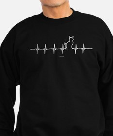 Cat Heartbeat Sweatshirt (dark)