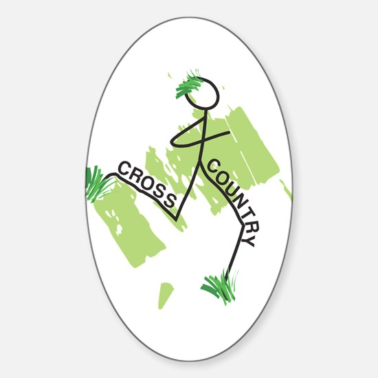 Cute Cross Country Runner Decal