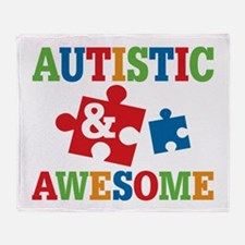 Autistic Awesome Throw Blanket
