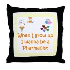 I Wanna Be A Pharmacist Throw Pillow
