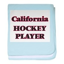 California Hockey Player baby blanket
