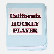 California Hockey Player baby blanket