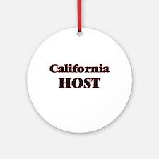 California Host Round Ornament