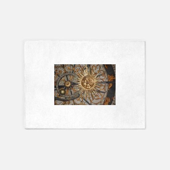 Astrological clockface 5'x7'Area Rug