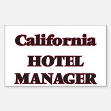 California Hotel Manager Decal