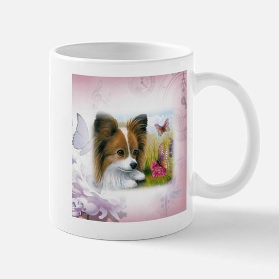 Dog 123 Papillon Mugs