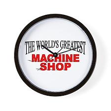 """The World's Greatest Machine Shop"" Wall Clock"