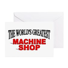 """The World's Greatest Machine Shop"" Greeting Cards"
