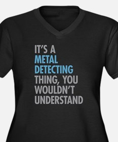 Metal Detect Plus Size T-Shirt