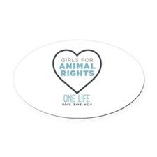One Life Logo Oval Car Magnet