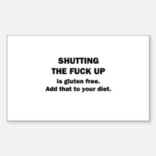Shutting Up Decal