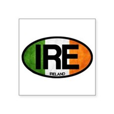 "Unique Flag irish Square Sticker 3"" x 3"""