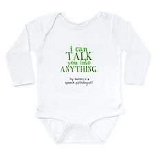 Unique Talk talkative Long Sleeve Infant Bodysuit