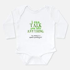 Cute Language Long Sleeve Infant Bodysuit