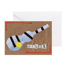 Ukulele Love Card Greeting Cards