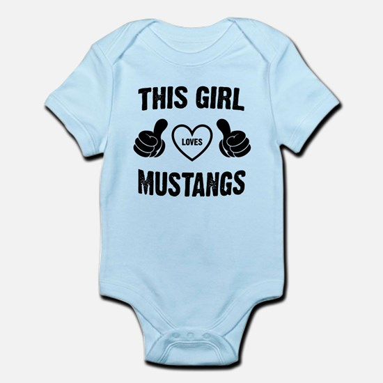 THIS GIRL LOVES MUSTANGS Body Suit