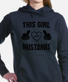 THIS GIRL LOVES MUSTANGS Women's Hooded Sweatshirt