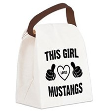THIS GIRL LOVES MUSTANGS Canvas Lunch Bag