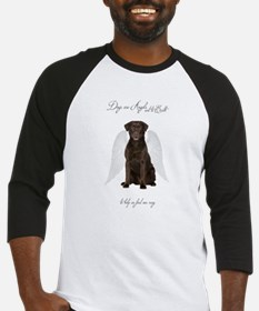 Chocolate Lab Angel Baseball Jersey
