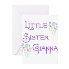 Little Sister Gianna Greeting Cards (Pk of 10)