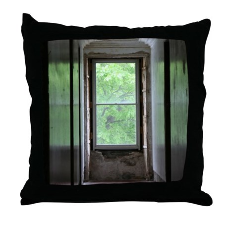"""Dark Hall of Day"" Throw Pillow"