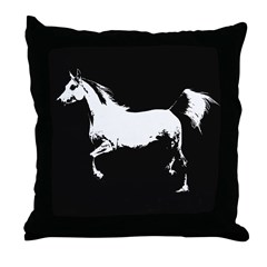 AFTM Arabian Mare 2BW Throw Pillow