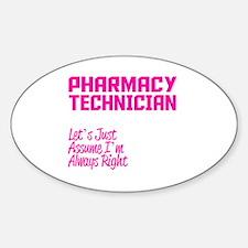 Unique Pharmacy technician Decal