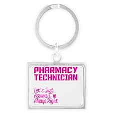 Cute Pharmacy technician Landscape Keychain