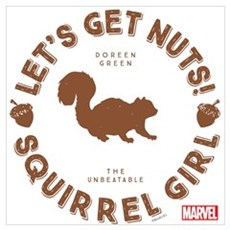 Squirrel Girl Let's Get Nuts Wall Art Framed Print