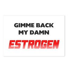 Damn Estrogen Menopause Postcards (Package of 8)