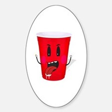 Cups playing beer pong Decal
