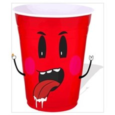 Cups playing beer pong Poster