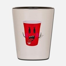 Cups playing beer pong Shot Glass