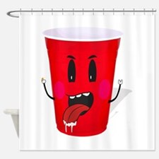 Cups playing beer pong Shower Curtain