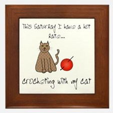 crochetcat.png Framed Tile