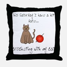 crochetcat.png Throw Pillow