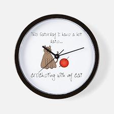 crochetcat.png Wall Clock