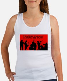 IT' S HOTTER THAN JULY IN JUMPIN' BED STU Tank Top