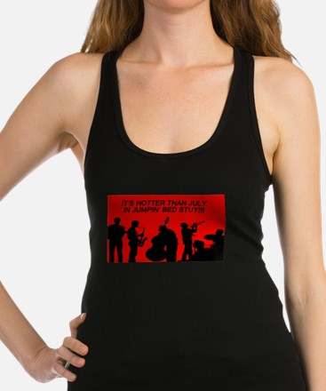 IT' S HOTTER THAN JULY IN JUMPI Racerback Tank Top