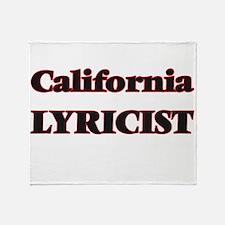 California Lyricist Throw Blanket